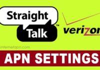Straight Talk APN Settings Verizon