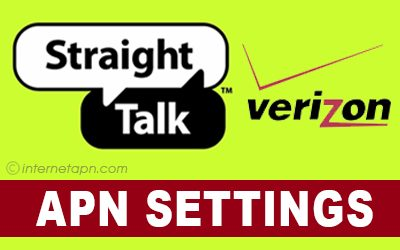 Straight Talk APN Settings Verizon